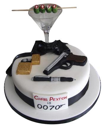 007 James Bond Birthday Cake For Boys
