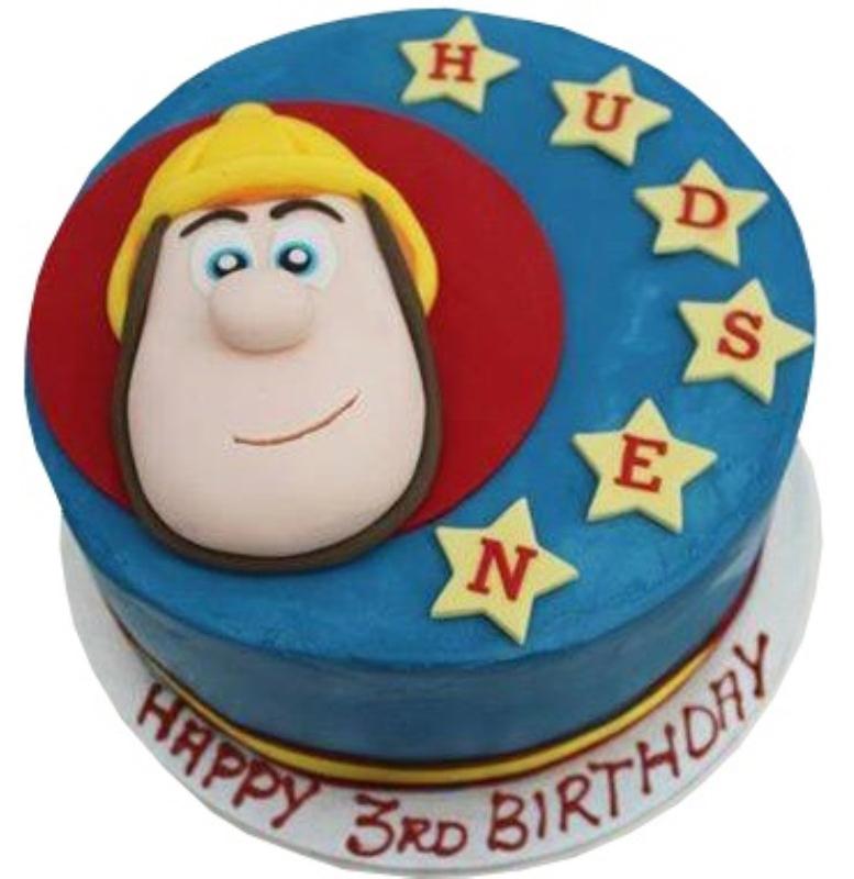 1st birthday fireman sam cake