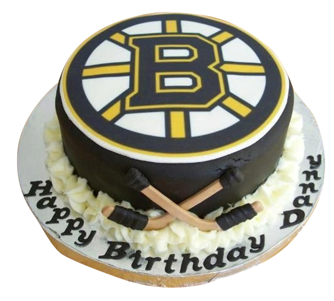 Boys ice hockey cake