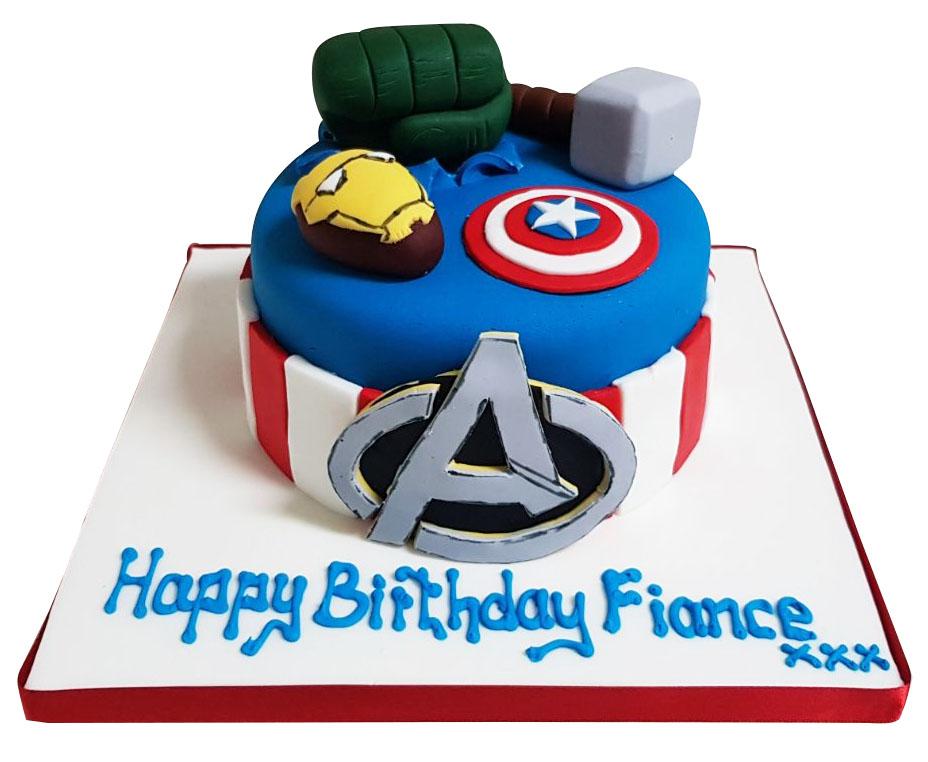 Avengers Birthday Cake for Kids