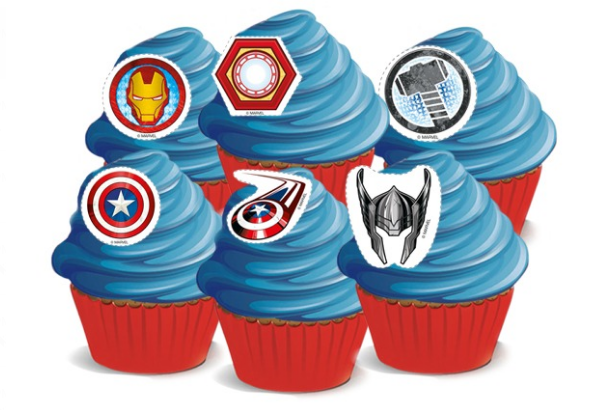 Avengers Cupcakes - Pack of 6