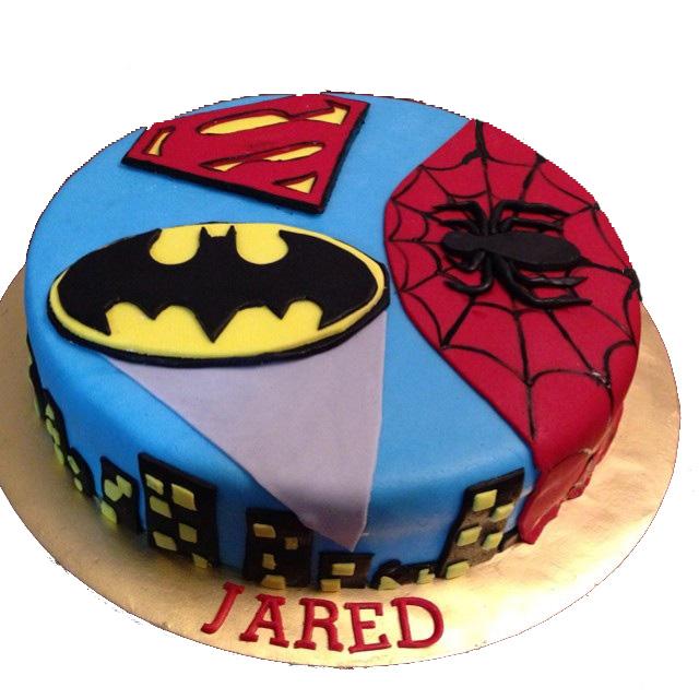 Batman & Spiderman Cake for Kids