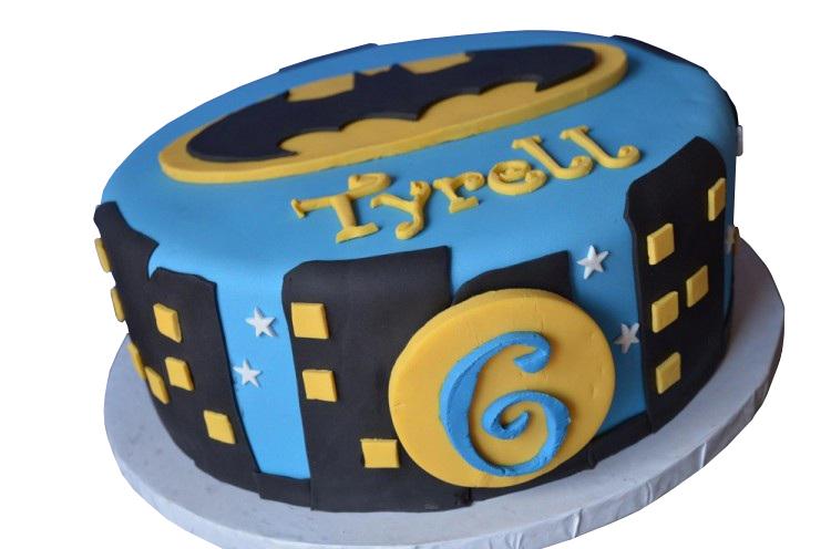 Batman Bat Signal Cake