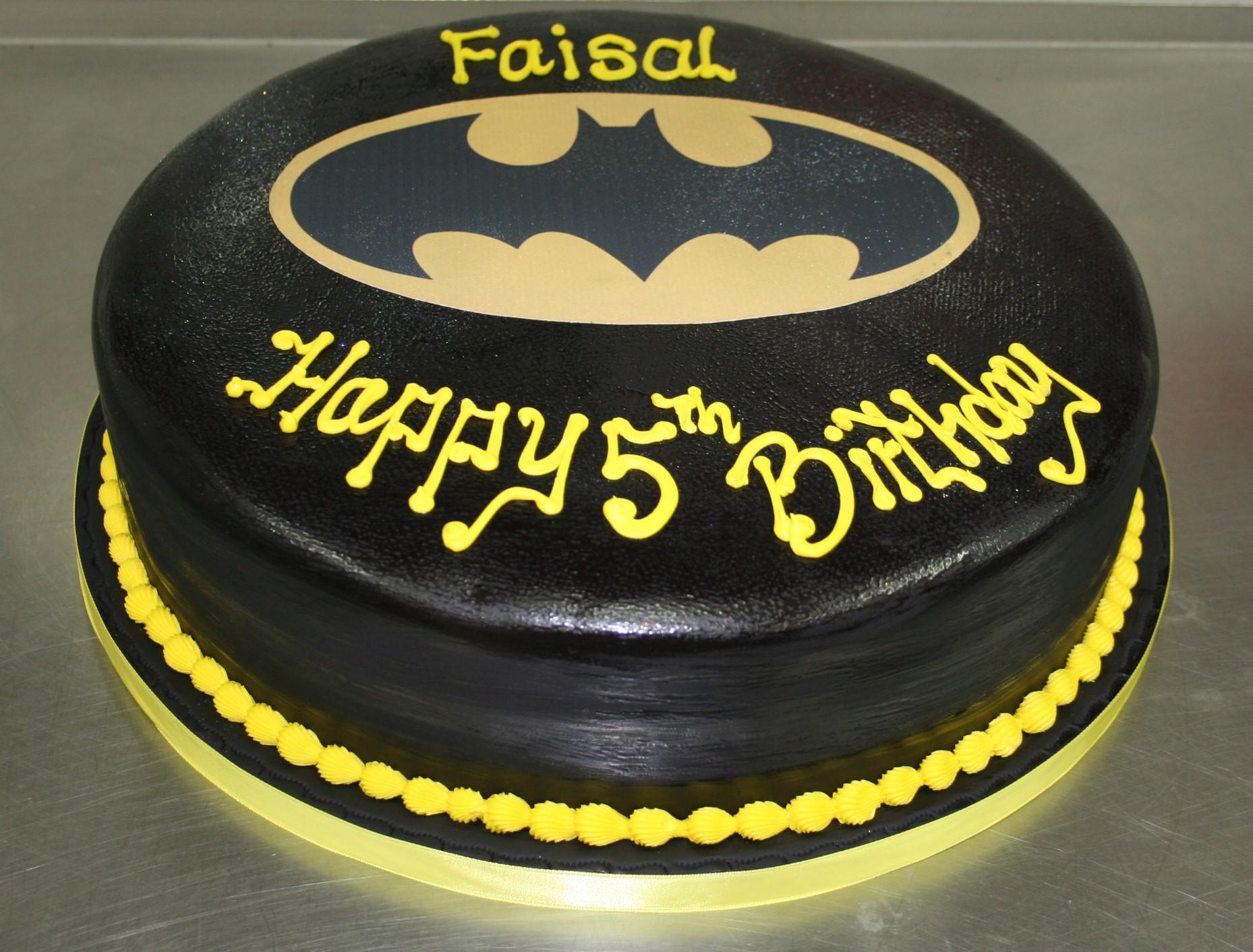 Batman 5th Birthday Cake