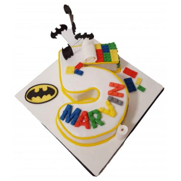 Batman & Lego Kids Birthday Cake