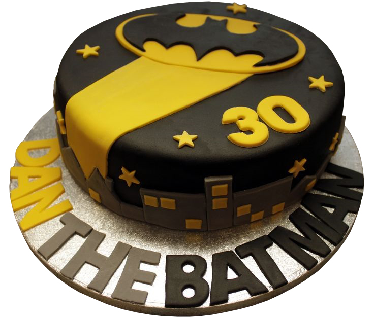 Batman night logo cake