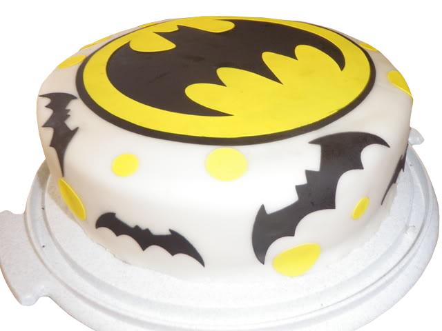 Batman Round Logo Cake