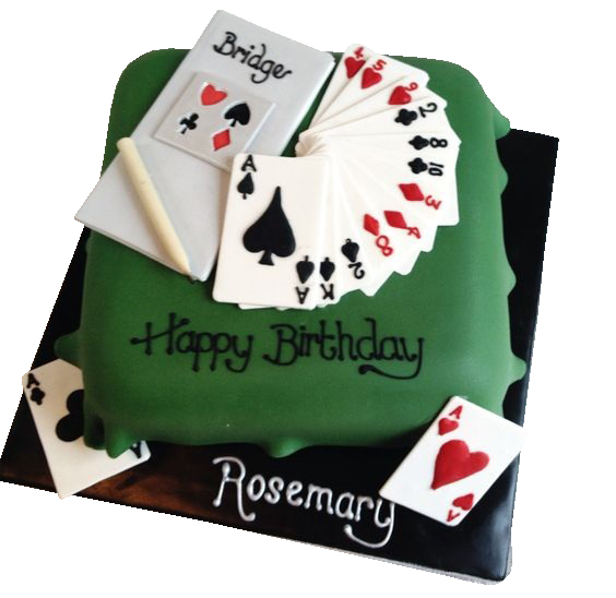 Bridge Game Birthday Cake