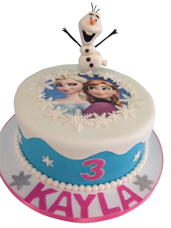 Elsa And Anna Birthday Cake