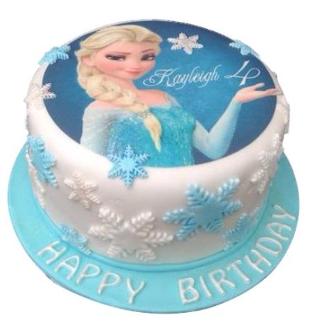 Elsa Frozen Picture Birthday Cake For Girls