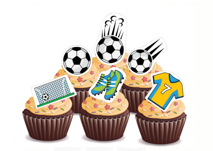 Football Cupcakes - Pack of 6