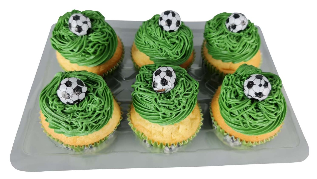 Football theme Cupcakes Pack of 6