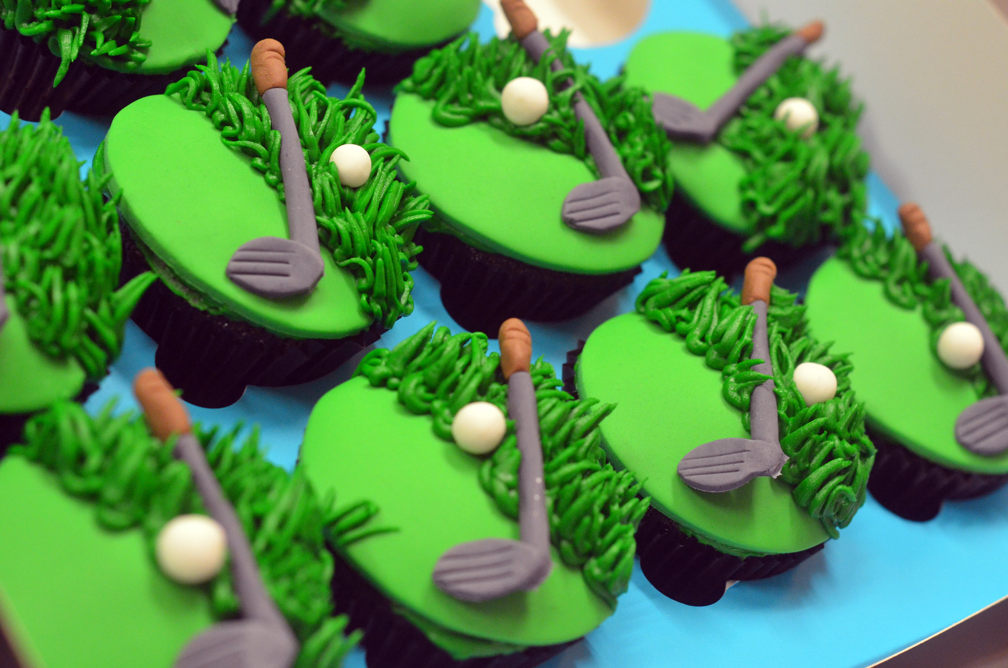 Golf Theme Cupcakes - Pack of 6