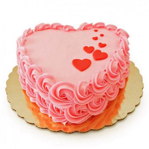 Heart Shaped Anniversary Cake