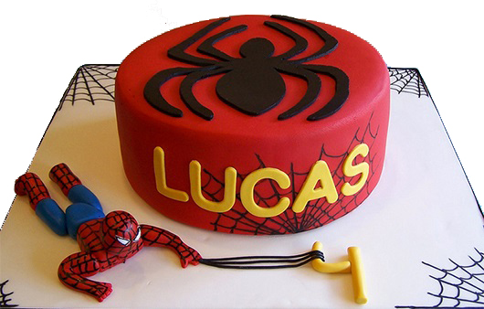 In Action Spiderman Birthday Cake