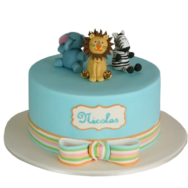 Jungle animals theme Kids Birthday Cakes