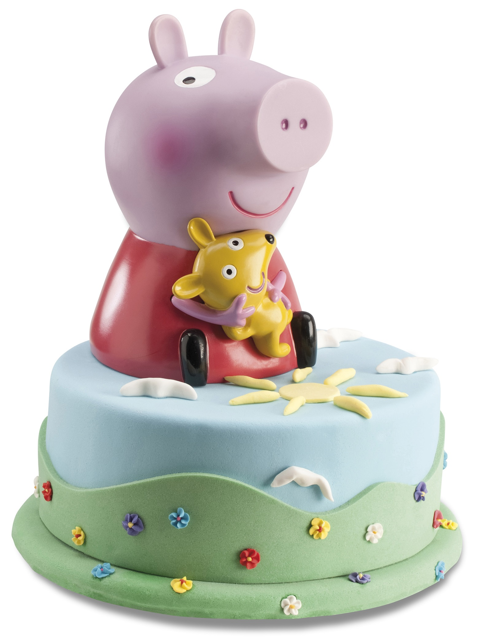 Legalised Peppa Pig Cake with Coin Bank