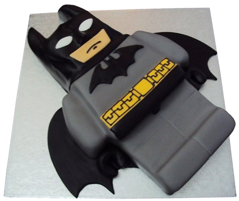 Lego Batman Shaped Birthday Cake