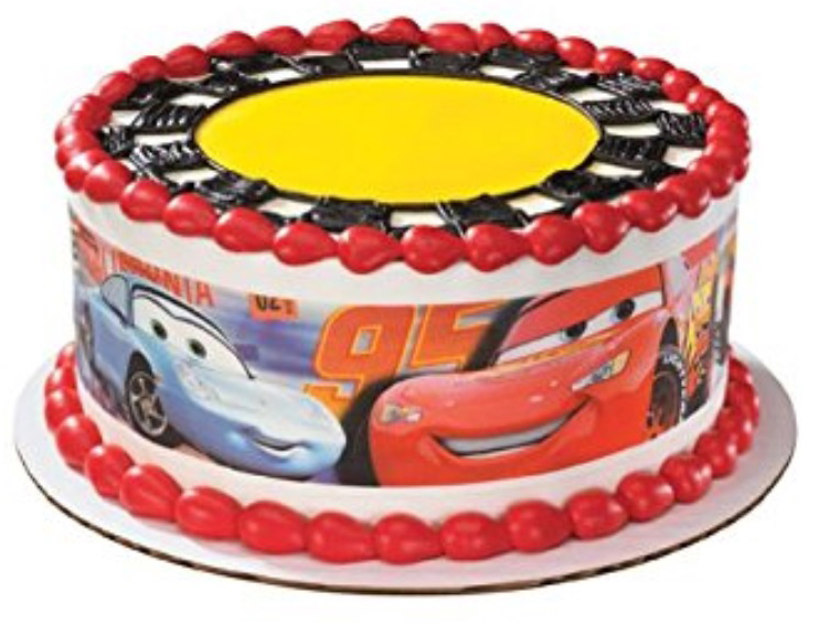 Lightning McQueen Picture Cars Birthday Cake