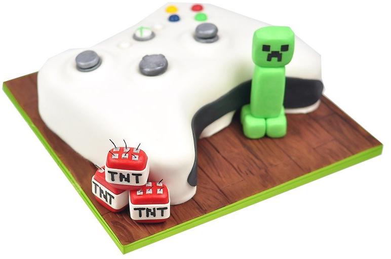 Minecraft Xbox Birthday Cake