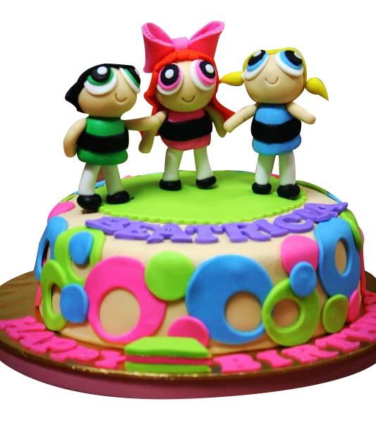 power puff girls cake