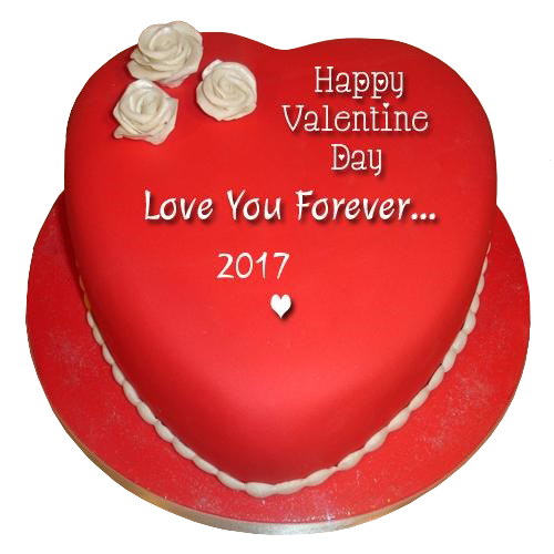Red Heart Valentines Cake