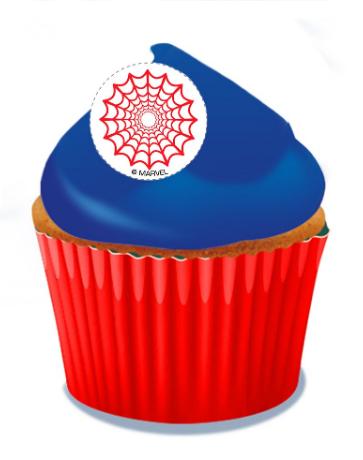 Spiderman Cupcakes - Pack of 6
