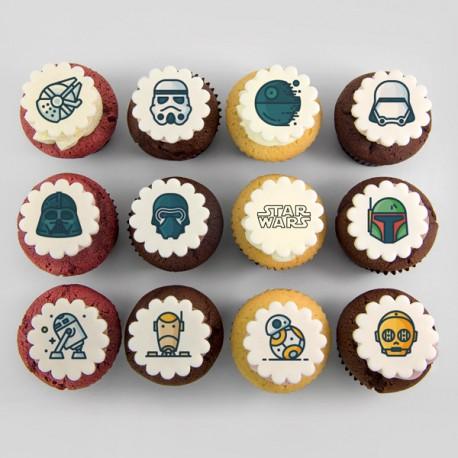 Star War Theme Cupcakes - 6 Pack