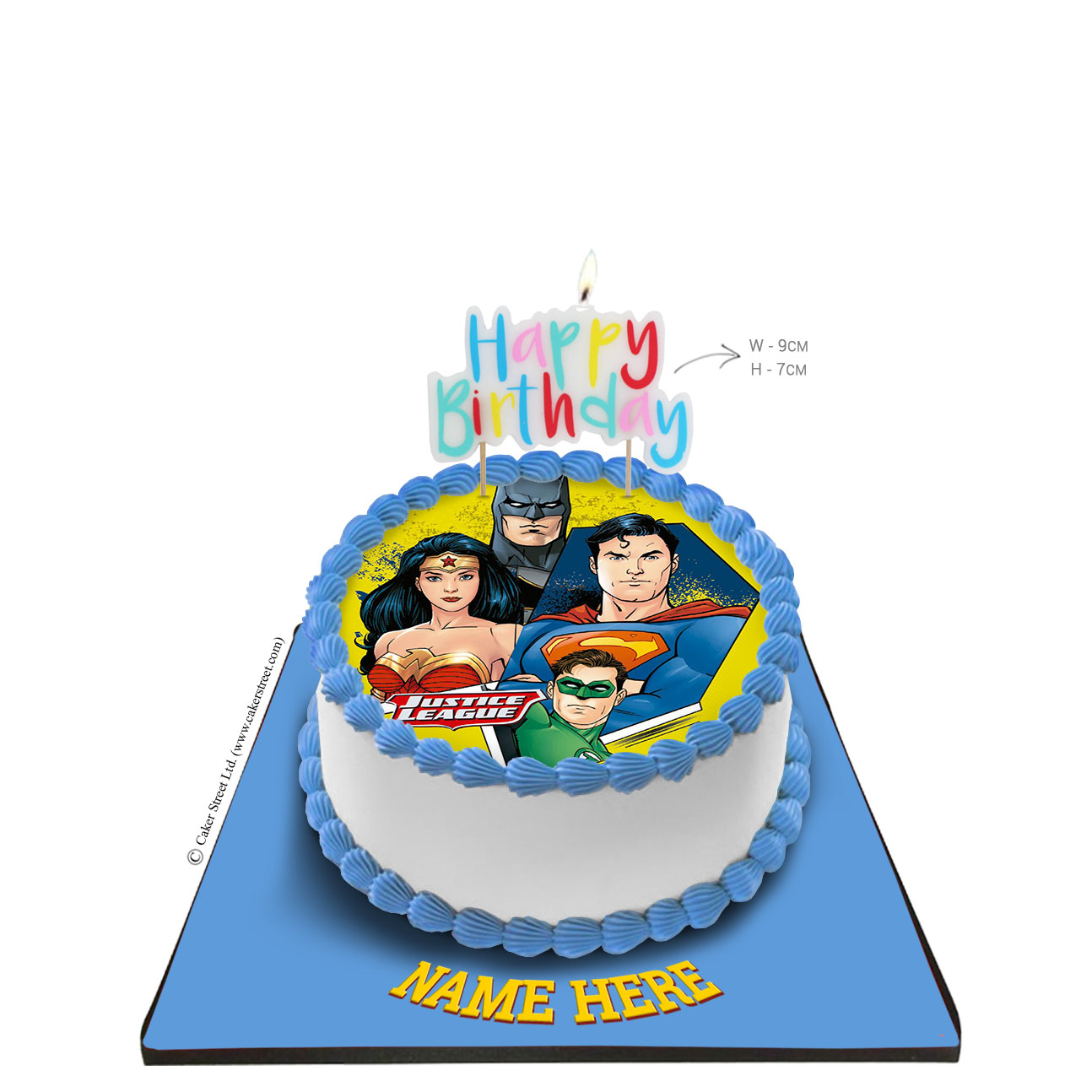 Superman Cake with Happy Birthday Candle