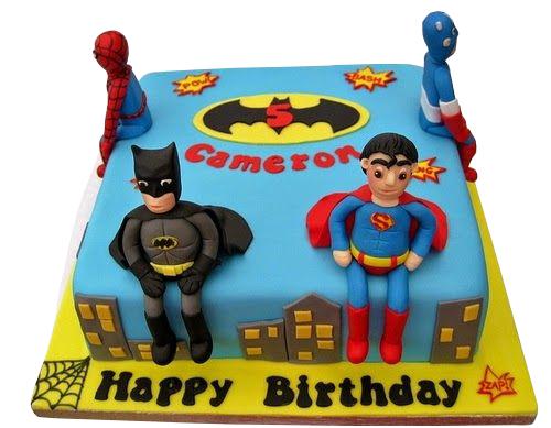 Superhero Theme Kids Cake