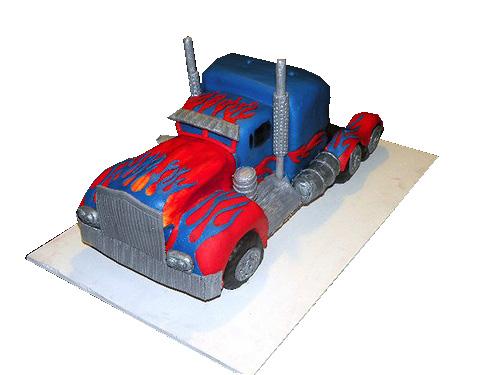 Transformers Truck Cake