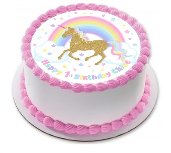 Unicorn Photo Cake