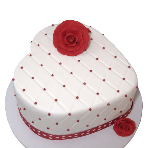 Valentines Cake With Roses On Top