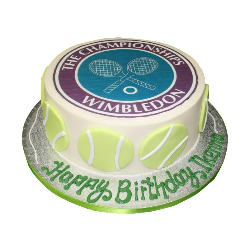 Wimbledon Tennis Theme Cake
